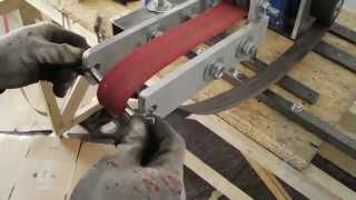 Homemade 2x72 Vertical / Belt Grinder - Bandschleifer / Horizontalschleifer Eigenbau