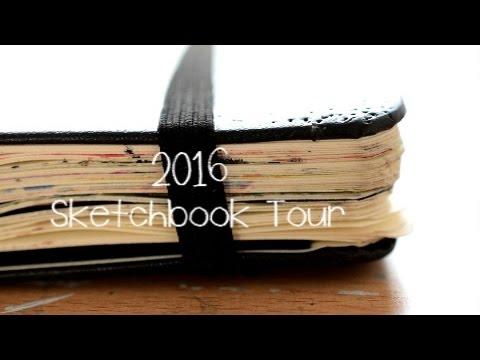 2016 moleskine sketchbook tour