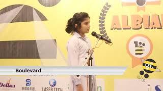 Barka Kashif - Lahore Grammar School - ALBEE Spelling Competition 2018