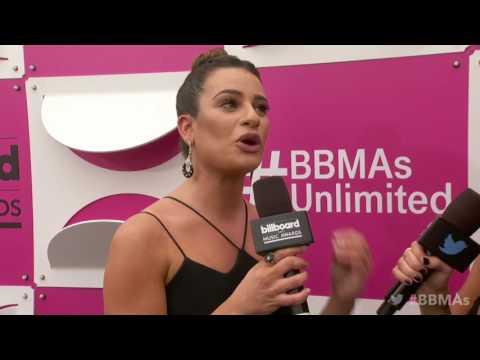Lea Michele Magenta Carpet Interview  BBMAs 2017