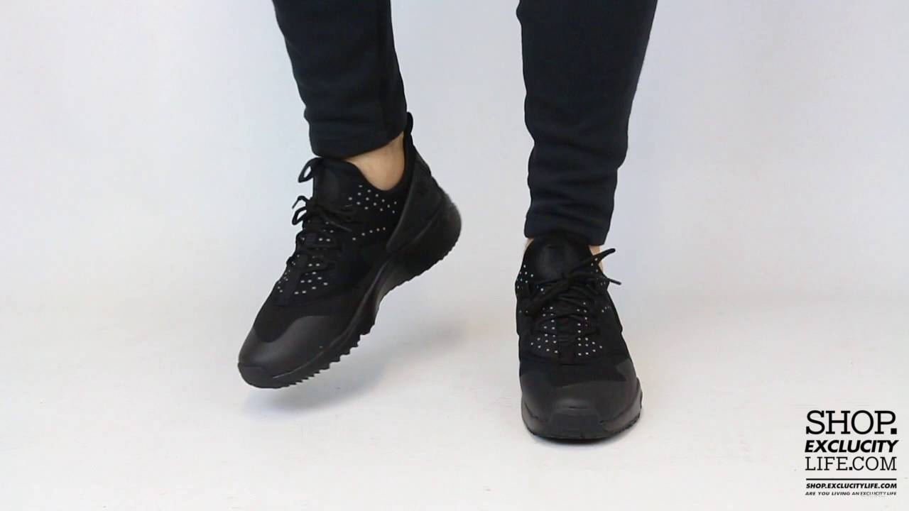 e0e5574f9836f5 Nike Huarache Utility Triple Black On feet Video at Exclucity - YouTube