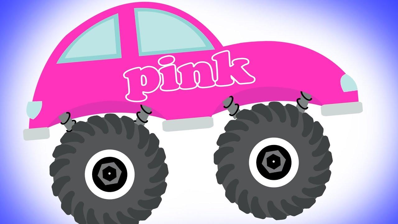 monster trucks teaching colors learning basic colors video for kids youtube
