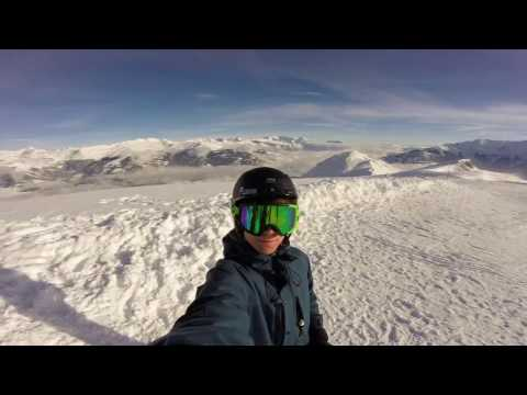 Skiing in the Swiss Alps - Edit by Maexe