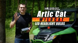 The Brightest LED Bulb For Your ATV? Arctic Cat Wildcat | Headlight Revolution