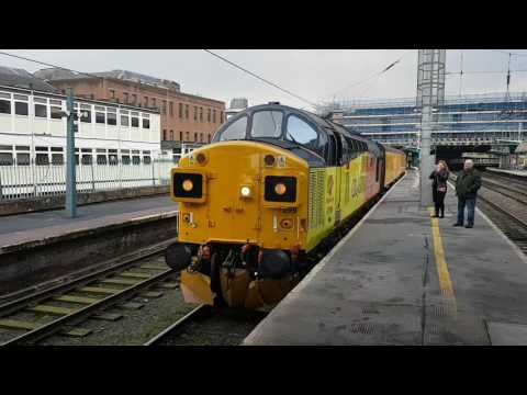 (HD) Colas Rail 37099+37175 at Carlisle on 1Q74 15/2/2017