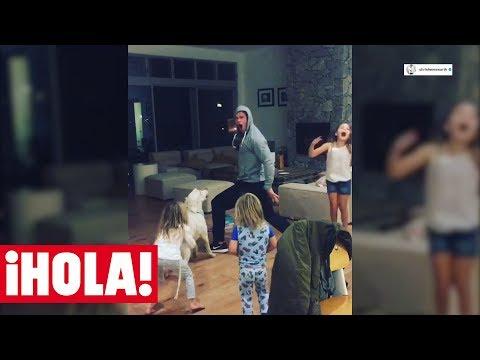 ¡Imposible no reírse! El baile de CHRIS HEMSWORTH con sus hijos a ritmo de Miley Cyrus