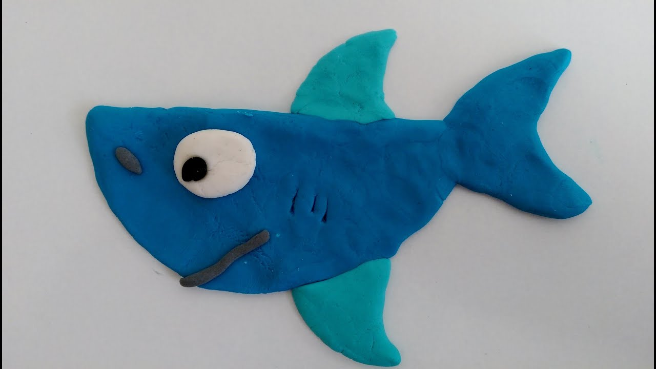 How to make easy blue shark with play dough youtube for How to shark fish