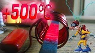 ИНДУКЦИОННЫЙ НАГРЕВАТЕЛЬ СВОИМИ РУКАМИ | 500°C за 2 секунды