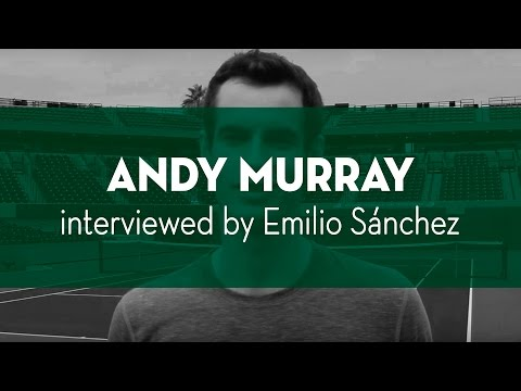 Emilio Sanchez interviewing Andy Murray