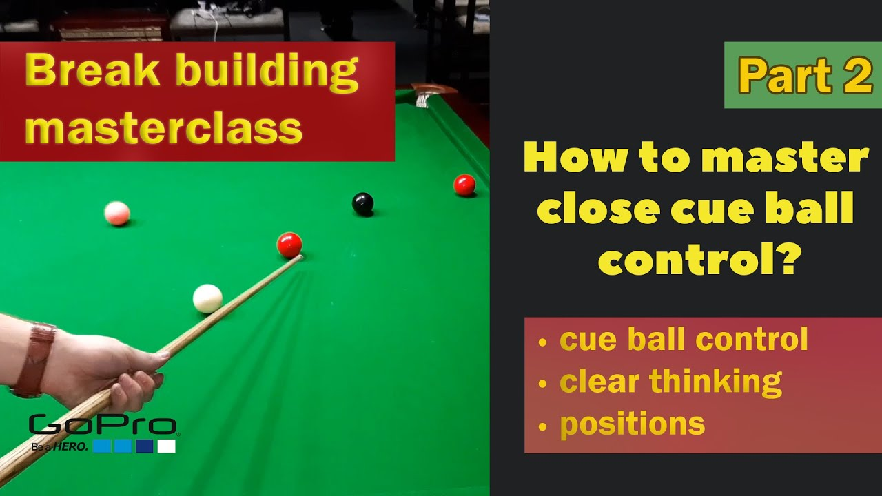 Close cue ball control practise routine - (9reds total