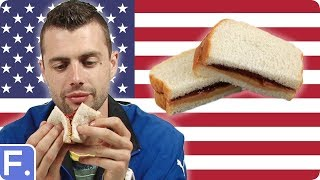 Repeat youtube video Irish People Try American Sandwiches (PB&J, Cheesesteak, ...)