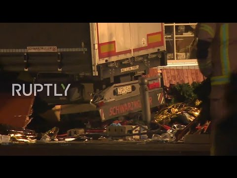LIVE from Berlin after truck plows into Christmas market