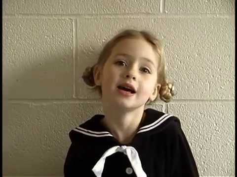 """4-year-old girl sings """"How Do You Solve a Problem Like Maria?"""" from The Sound of Music"""