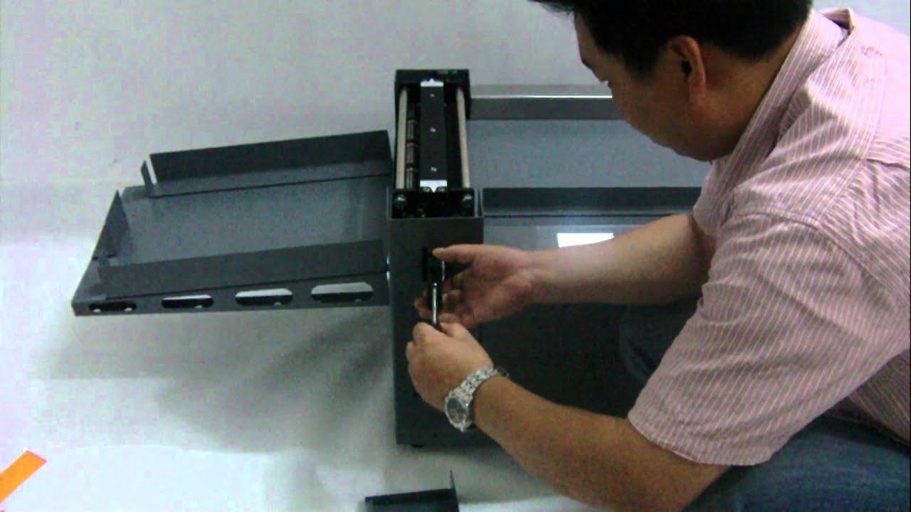 Digital paper creasing and perforating machine - YouTube