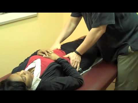 Dr. Andrew Lipton demonstrates osteopathic manipulation
