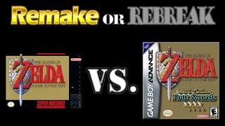 ROR: TLOZ A Link to the Past (SNES vs  GBA & Four Swords)
