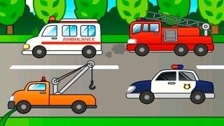 Мультик - Собираем виды транспорта - развивающие мультфильмы для детей новинки