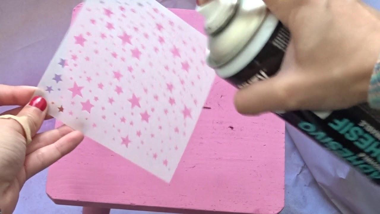 Truco Para Pintar Con Plantillas Y Pintura En Spray Youtube