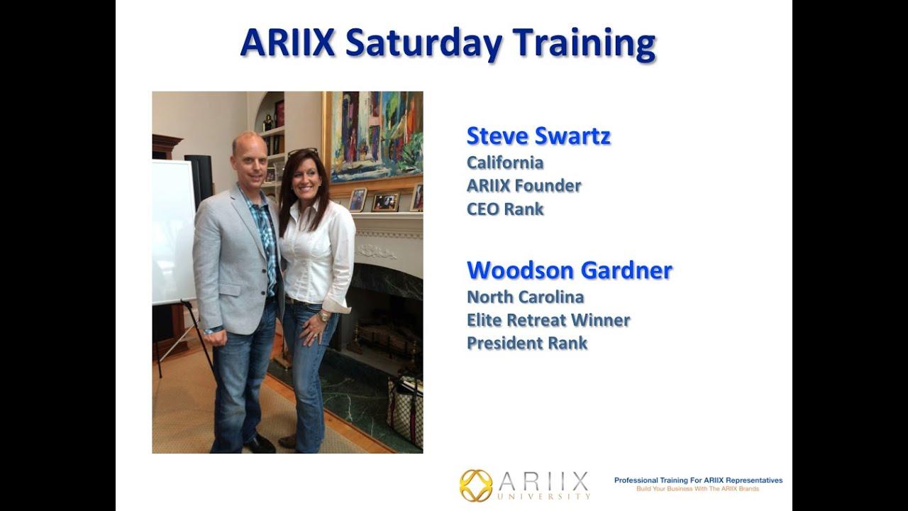 ARIIX University Steve Swartz Woodson Gardner Nov 1 2014 YouTube