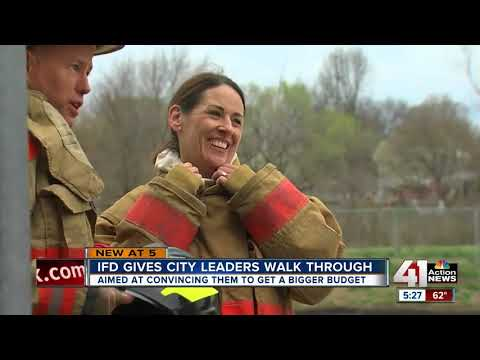 Independence leaders learn firefighting first hand