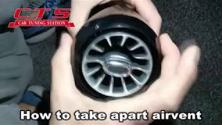 How to install LED turbo airvent for Mercedes Benz W205  C class