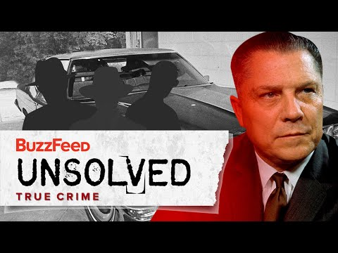 The Sinister Disappearance of Jimmy Hoffa: Season Premiere. What really happened to this famed Mob figure?  BuzzFeed's hit docuseries Unsolved True Crime follows conspiracy theory enthusiast Ryan as he deep-dives into the mysteries surrounding the most notorious unsolved crimes in history, in order to convince his dubious friend Shane that sometimes, the evidence isn't always as it seems.  Unsolved has merch! Check it out here: https://goo.gl/nGhyrc Watch on Amazon Instant Video: http://amzn.to/2nxA2q6 Watch on Hulu: https://hulu.tv/2FHqdMT  Check out our BuzzFeed Original Series channel on Roku: http://bit.ly/2DUnOlE Created by https://www.buzzfeed.com/bfmp/videos/61641  Welcome to the BuzzFeed Unsolved Network! This channel is your one-stop destination for all things mystery, conspiracy, supernatural, true crime, and everything in between. Subscribe here: http://bit.ly/2zuaR06.  MUSIC Licensed via Audio Network  STILLS Duct Tape XXL smartstock/Getty Images Set of various paint splatters itchySan/Getty Images Finger Print Distressed ScottTalent/Getty Images vintage map of the world 1831 javarman3/Getty Images Vintage light bulbs choness/Getty Images XXXL dark concrete sbayram/Getty Images Device Used In Pizza Delivery Man Explosion Getty Images / Handout/Getty Images Teamsters Union President Jimmy Hoffa Bettmann / Contributor/Getty Images Gold coins in a chest Hemant Mehta/Getty Images Alcatraz Island Daniel Osterkamp/Getty Images Antique Locks Isolated On White         Diane Labombarbe/Getty Images Wealthy Criminal Sitting in an Armchair Between two Bodyguards         Digital Vision./Getty Images Take a seat         lappes/Getty Images USA MAP         Vectorios2016/Getty Images Mafia Boss John Roselli         Bettmann / Contributor/Getty Images Sam Giancana Arriving in Court         Bettmann / Contributor/Getty Images My eyes have seen a lot         shapecharge/Getty Images Portrait of Charles Colson Pausing at Watergate Hearing         Bettmann / Contributor/Get