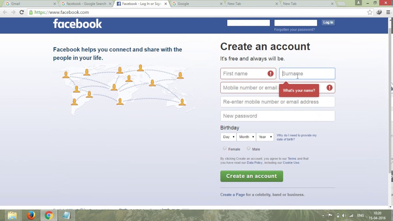 How to create Facebook Account | Home Based Online Jobs | FREE ...