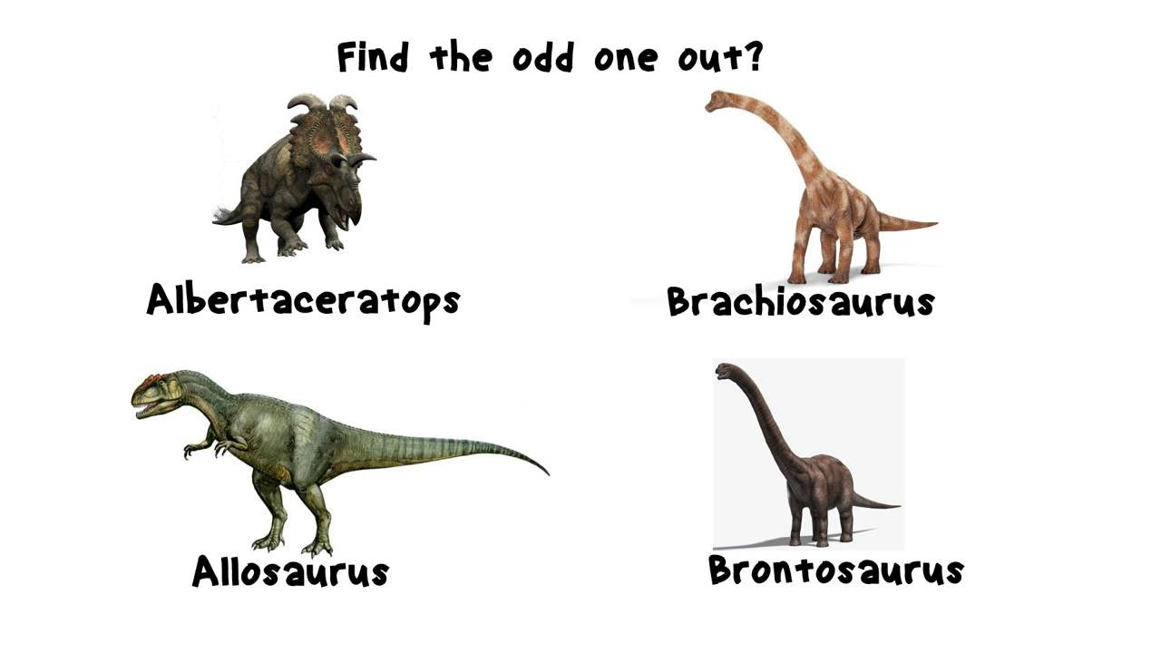 Dino Quiz 5 Find The Fake Animal Out