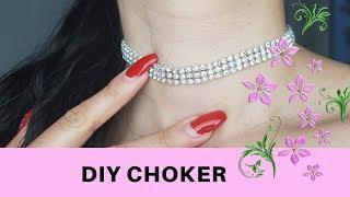 DIY: CHOKER DE DIAMANTES/ COMO FAZER CHOKER💎 | ACBEAUTYMAKEUP