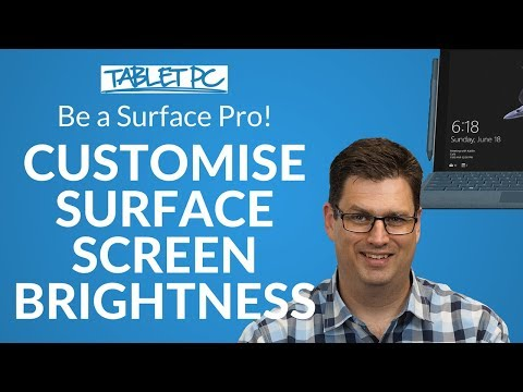 Change your Surface screen brightness