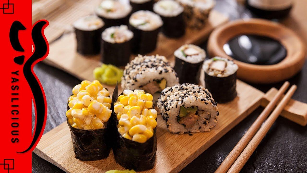 hangover sushi sushi selber machen maki insideo out rolls gunkan maki sushi ohne fisch. Black Bedroom Furniture Sets. Home Design Ideas