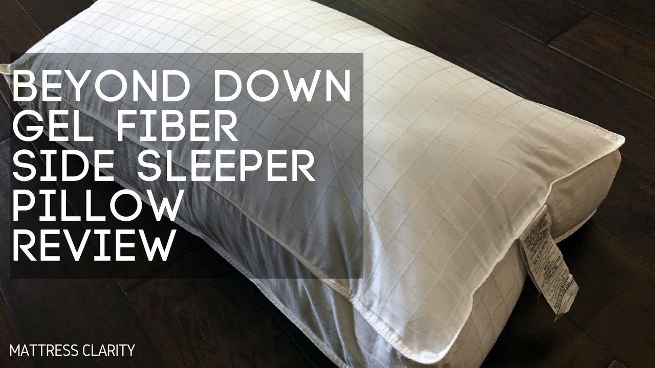 pretty nice ecaf5 9aba8 Beyond Down Gel Fiber Side Sleeper Pillow Review - Mattress ...