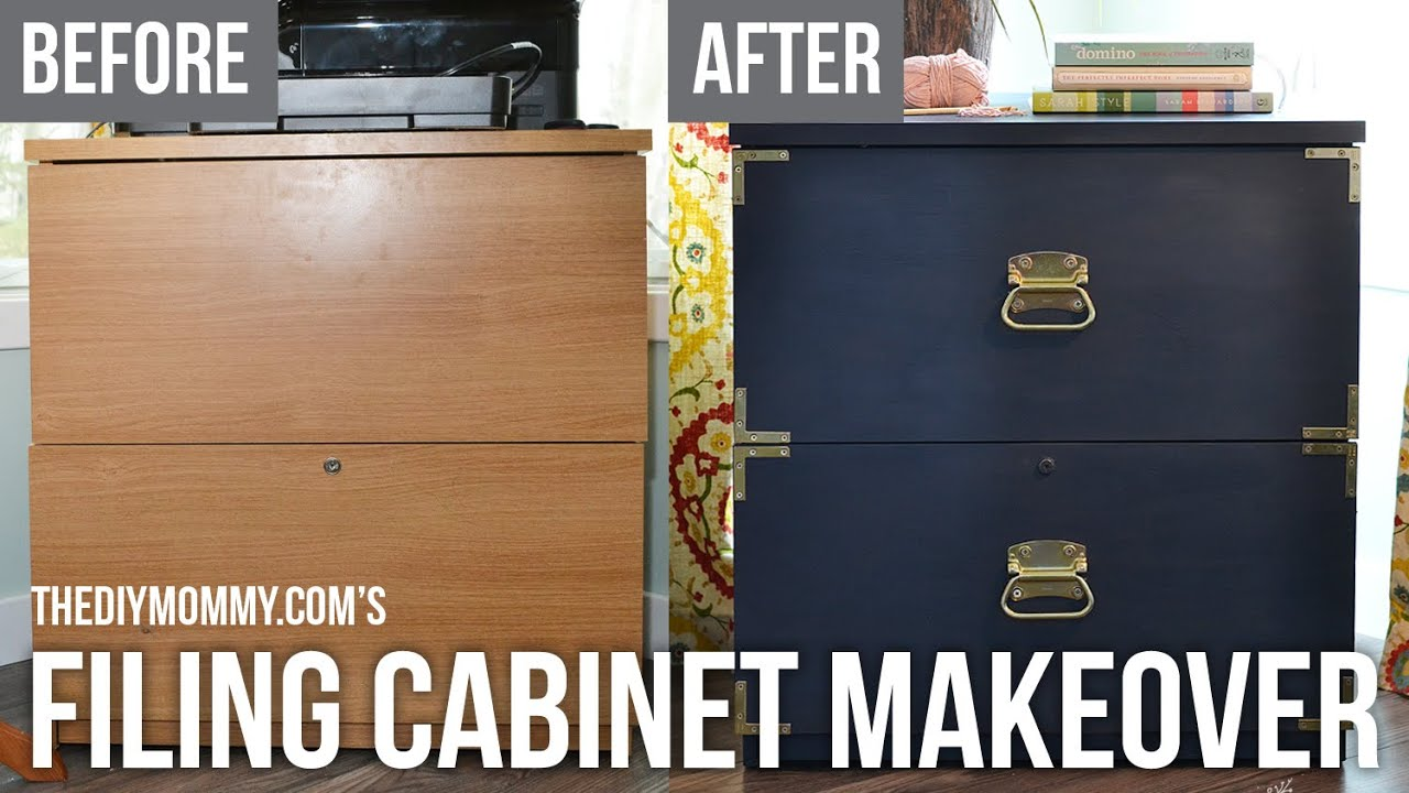 Campaign Dresser Inspired Filing Cabinet Makeover with FAT Paint Chalk Style Paint  YouTube