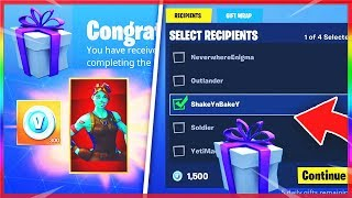 *NEW* GIFTING SKINS In FORTNITE! - NEW Gifting System FREE SKINS! (Fortnite SEND & RECEIVE Gifts!)