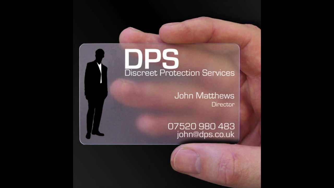Clear business cards free design service youtube colourmoves