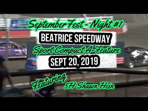 09/20/2019 Beatrice Speedway SeptemberFest Sport Comapct A-Feature