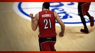 NBA 2K15 Gameplay 76ers vs Raptors Max Settings for Low/Mid End PCs