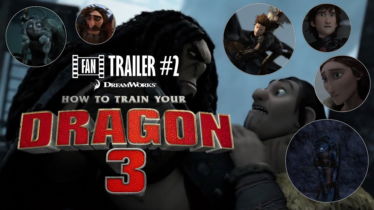 how to train your dragon: the hidden world - trailer (fan trailer