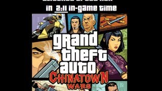 Grand Theft Auto Chinatown Wars Speed Run Glitched Any% in 2 Minutes, 11 Seconds In-game time DS WR