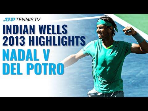 Extended Highlights: Rafael Nadal V Juan Martin Del Potro   Indian Wells 2013 Final