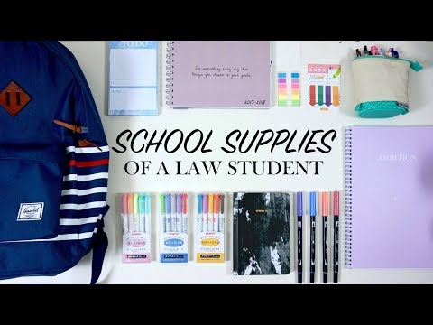 SCHOOL SUPPLIES OF A LAW STUDENT 2017/2018