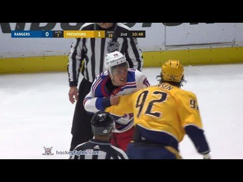 Brady Skjei vs Ryan Johansen Feb 3, 2018