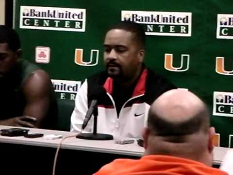 2/1/11 -- Coach Haith, Malcolm Grant and Julian Gamble