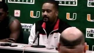 2/1/11 -- Coach Haith, Malcolm Grant and Julian Gamble