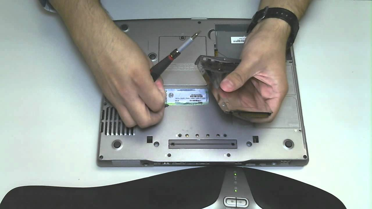 Dell Latitude D600 Hard Drive Removal Upgrade Youtube