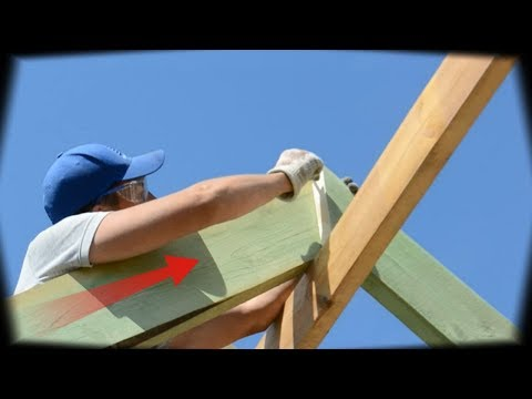 Как запиливать стропила двухскатной крыши