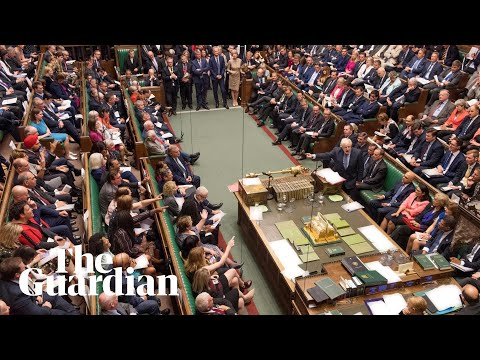 Brexit: chants of 'shame' as suspension of parliament descends into chaos – watch live