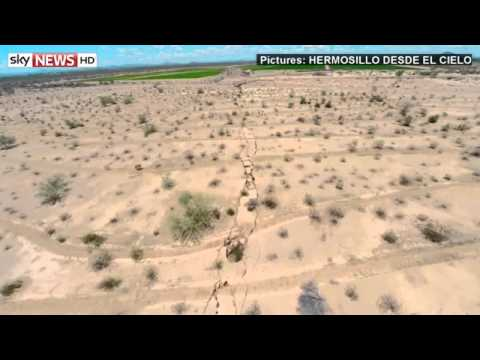 Mexico Fault Line Appear After Earthquake 2014