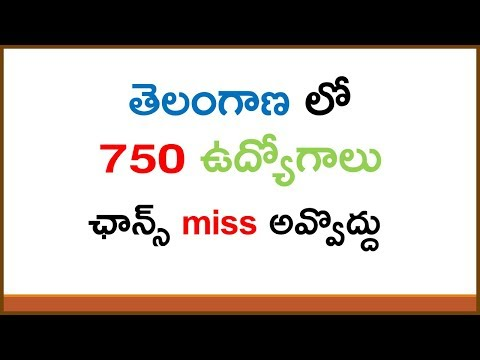 Telangana Government Jobs | Andhra Pradesh and Telangana Government Jobs 2017