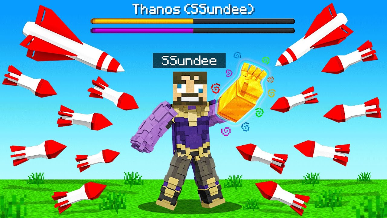 Can THANOS Survive a NUKE in Minecraft  (Insane Craft)